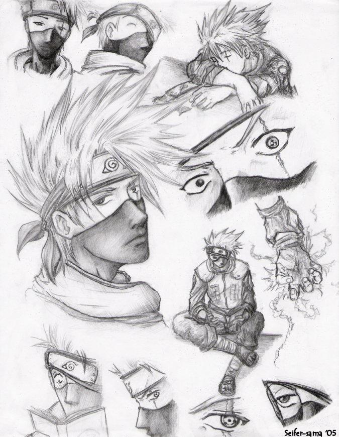 Kakashi Sketches by seifer-sama on DeviantArt