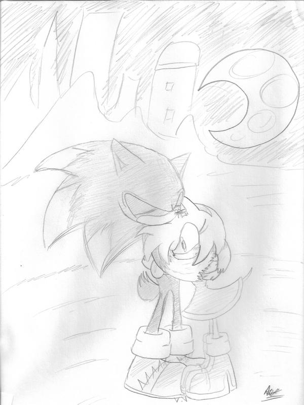 Sonic The Werehog and Amy Rose by AdiPrower94