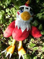 Hawkmon Plush by daggerhime