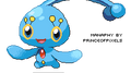 Floating Manaphy by princeofpixels