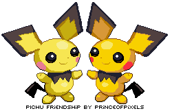 Pichu Friendship by princeofpixels