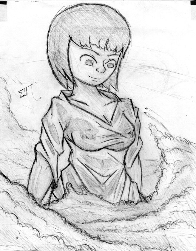 Giantess Draw - Above the clouds by Colonel-Gabbo