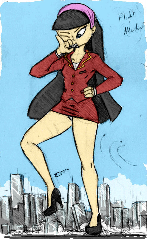 Giantess Sketch - Trixie Tang Rampage #9 by Colonel-Gabbo