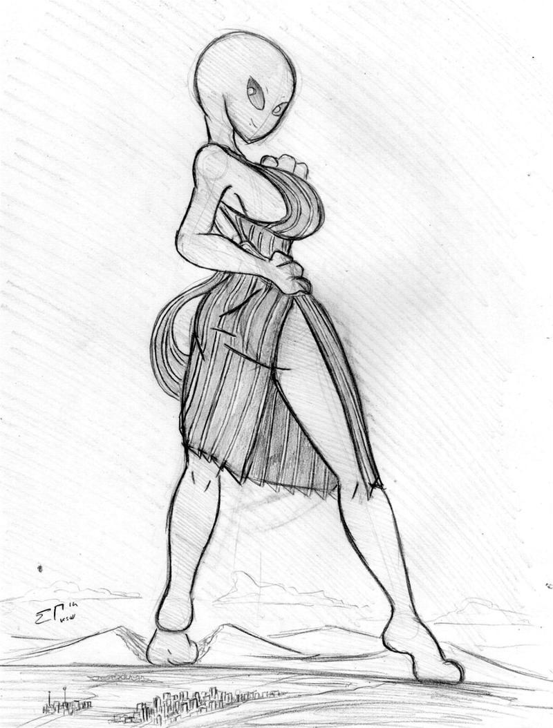 Giantess Draw - UNI-KSV by Colonel-Gabbo