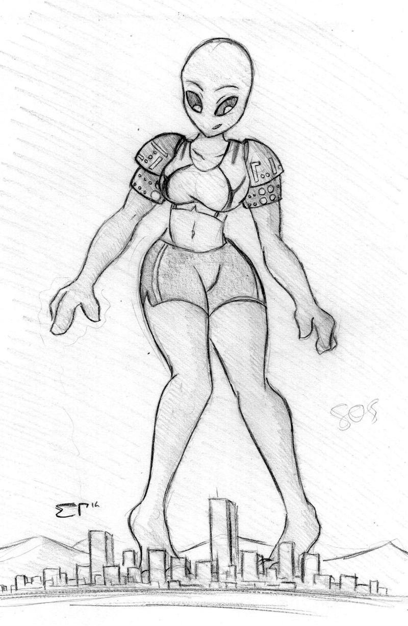 Giantess Draw - UNI-SOS by Colonel-Gabbo