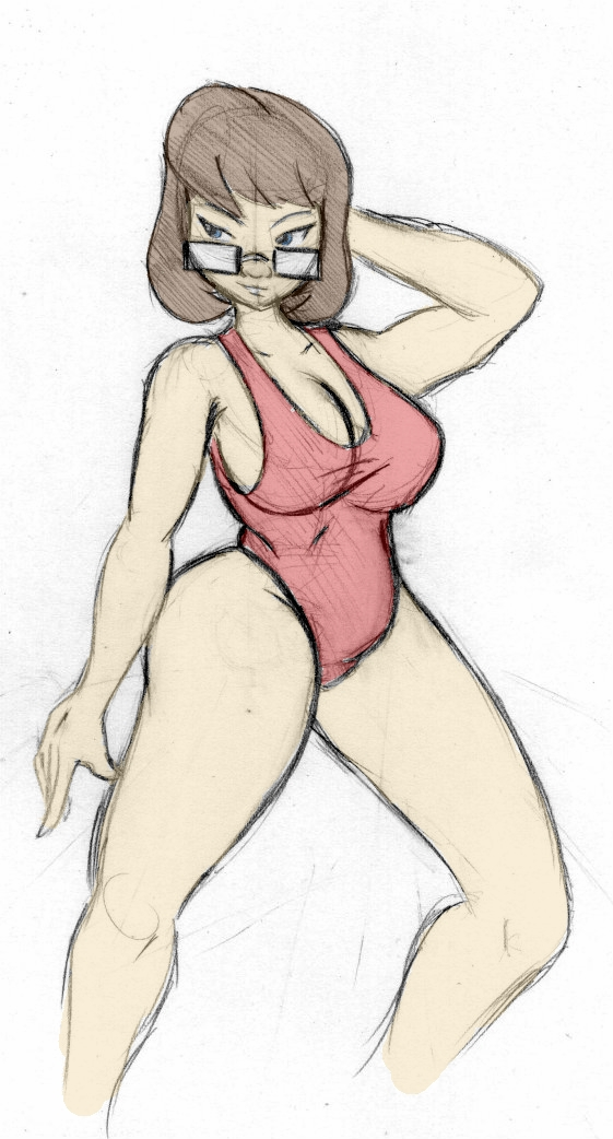 Velma Dinkley - Red Swimsuit by Colonel-Gabbo