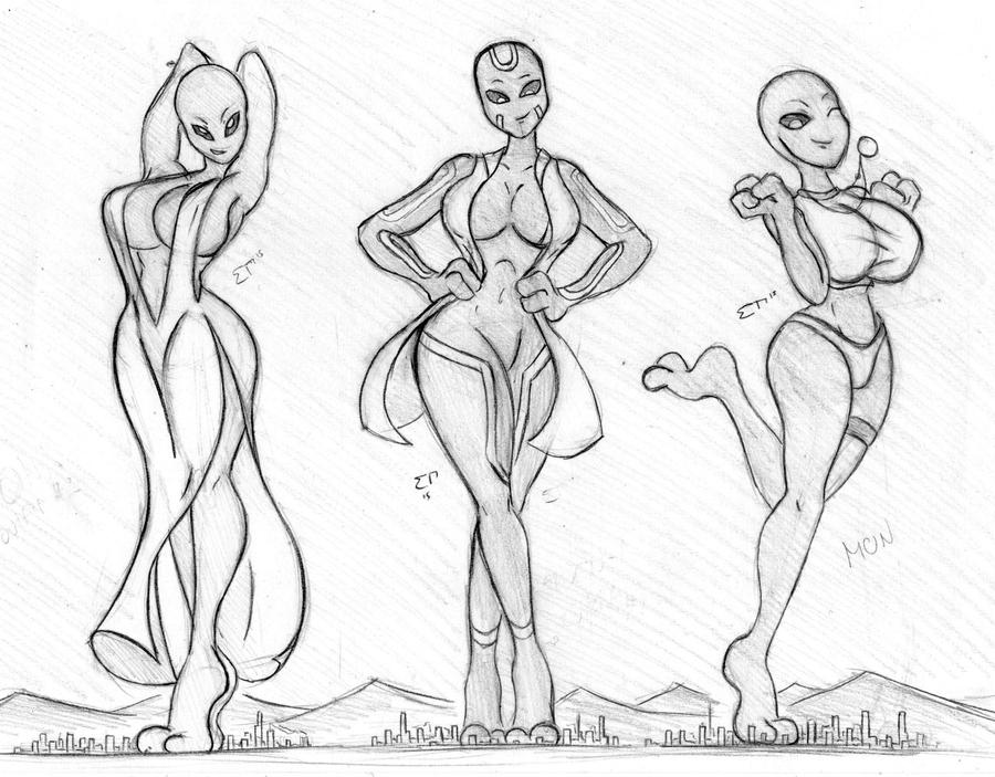 Giantess Sketch - UNI OCs by Colonel-Gabbo