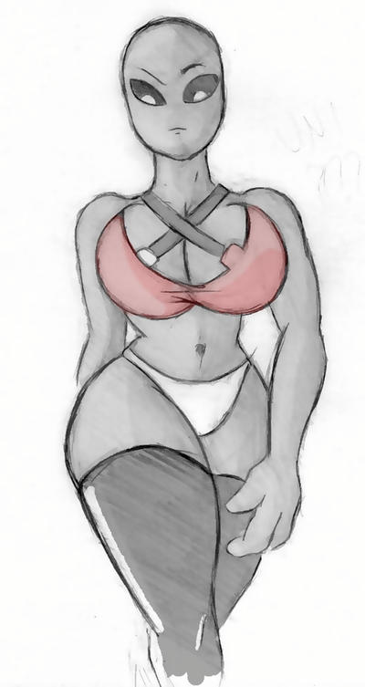 Giantess Draw - Old UNI test by Colonel-Gabbo