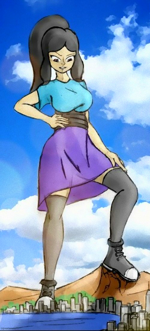 Giantess Draw - Summer OC by Colonel-Gabbo