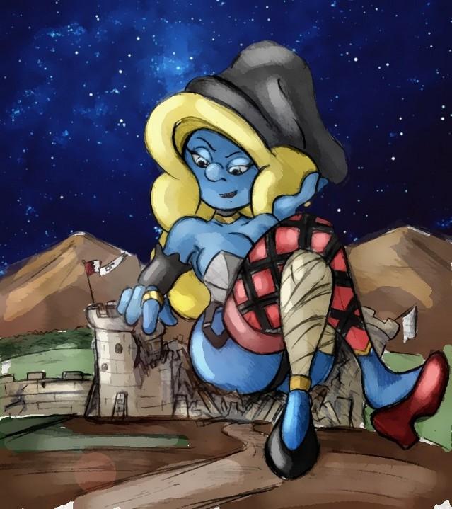 Technicolor Redux - The Dark Sorceress Smurfette by Colonel-Gabbo