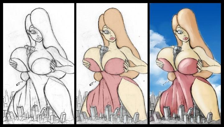 Progression Art - Jessica Rabbit by Colonel-Gabbo
