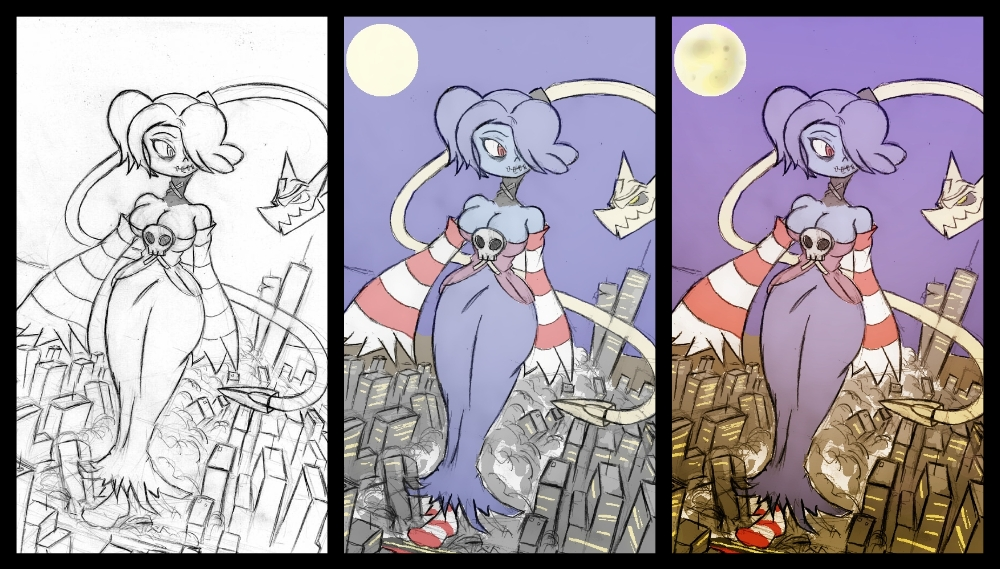Progression Art - Squigly by Colonel-Gabbo