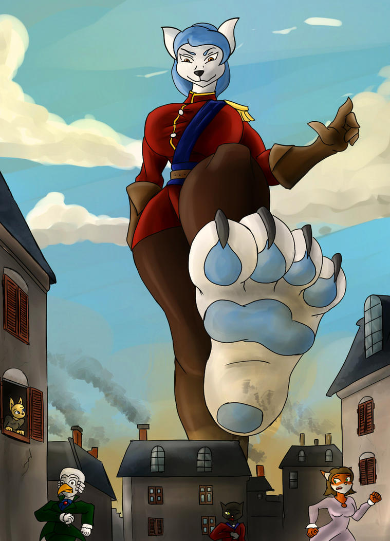 Giantess Draw - Alysha Vexx in Town by Colonel-Gabbo
