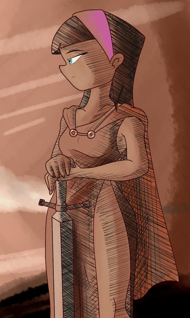Break Sketch #14 - Knight Trixie by Colonel-Gabbo