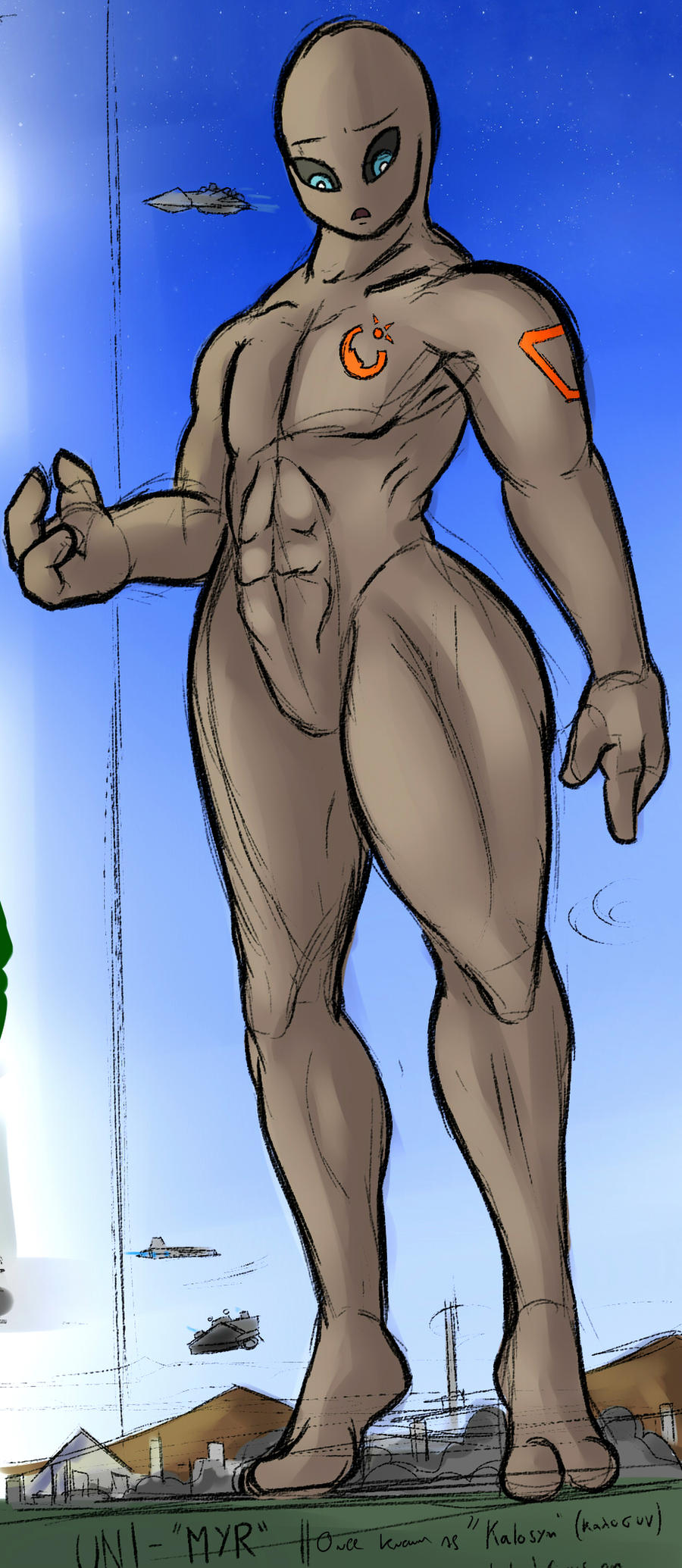 Break Sketch #20 - UNI Male Sketch by Colonel-Gabbo