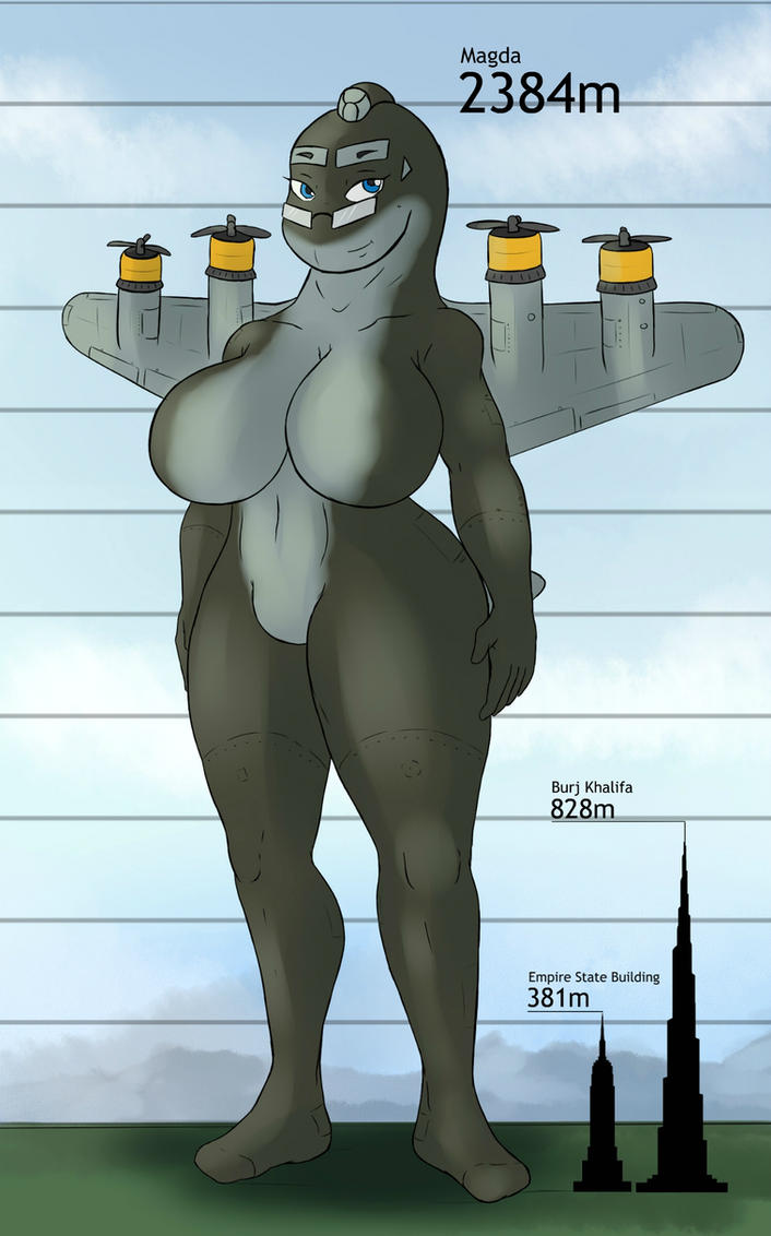 Giantess Draw - Magda Size Reference by Colonel-Gabbo
