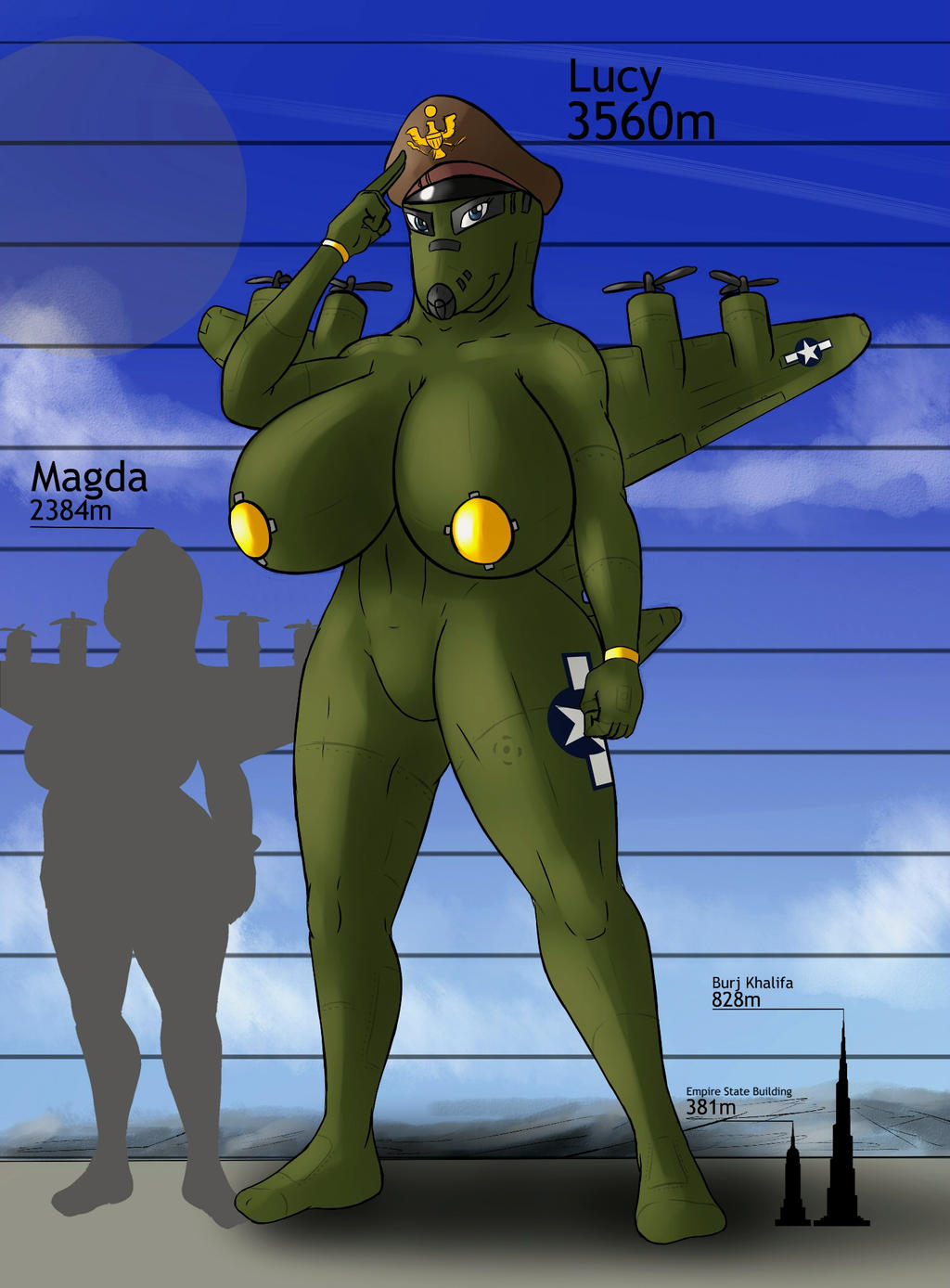 Giantess Draw - Lucy Size Reference by Colonel-Gabbo