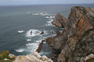 Cliff and Sea Stock by XerStock