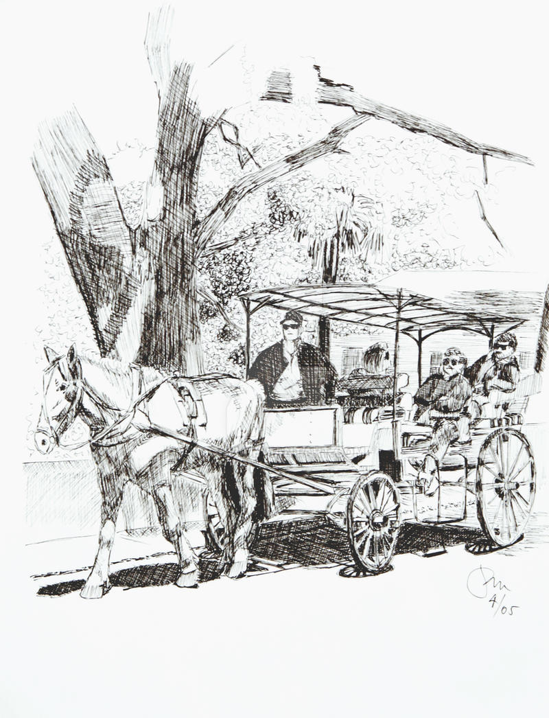 Horse And Carriage Drawing Horse Carriage