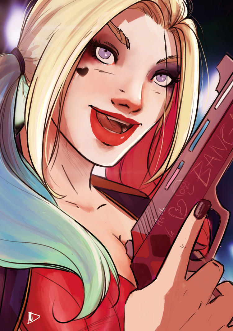 Harley Quinn 2016 SketchCard by Future-Infinity