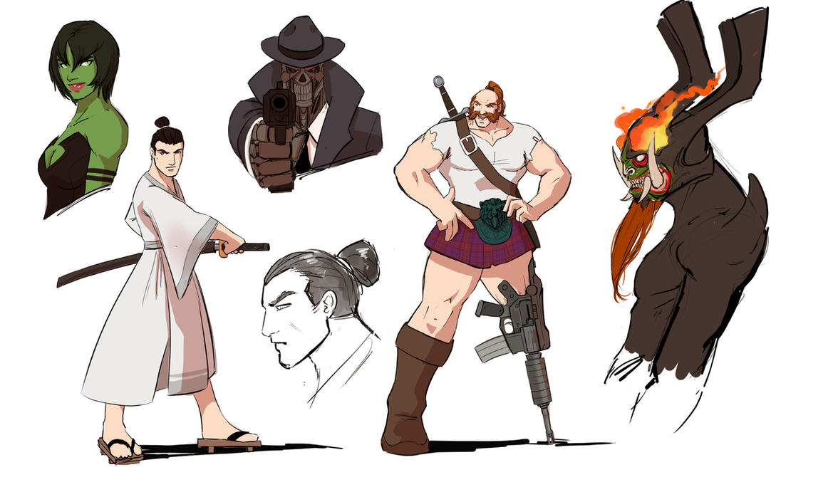 Samurai Jack Sketches by Future-Infinity
