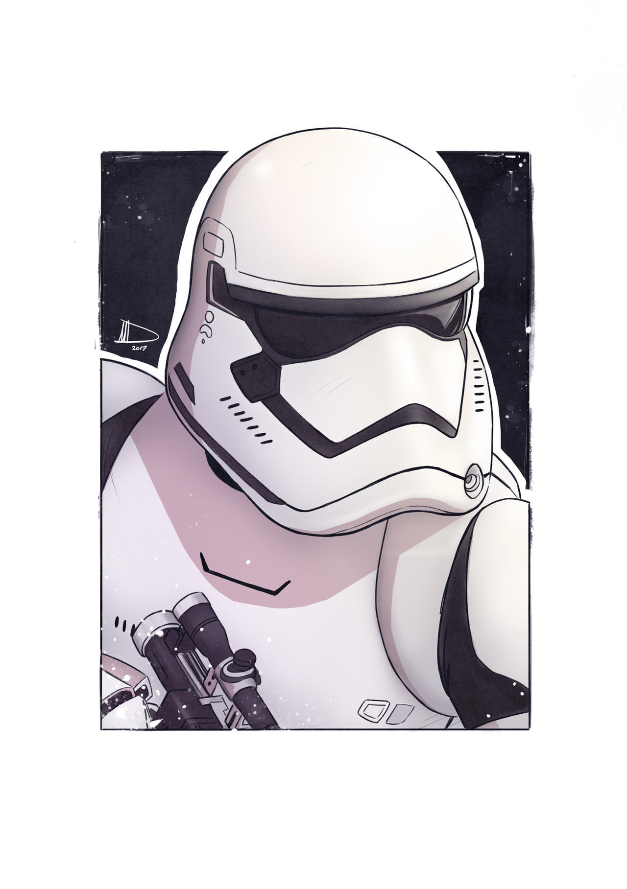 Storm Trooper SketchCard 2017 by Future-Infinity