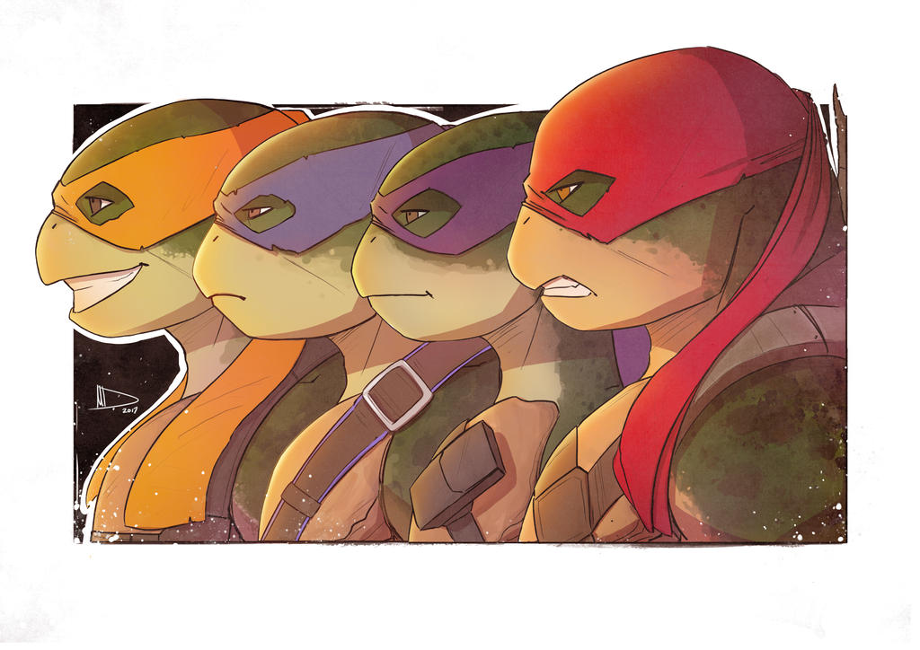 TMNT Team SketchCard by Future-Infinity