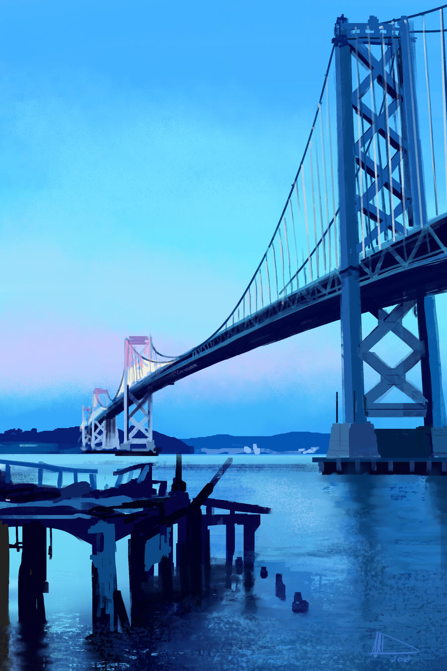 Bay Bridge by Future-Infinity