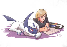 Lad and his Absol by Future-Infinity