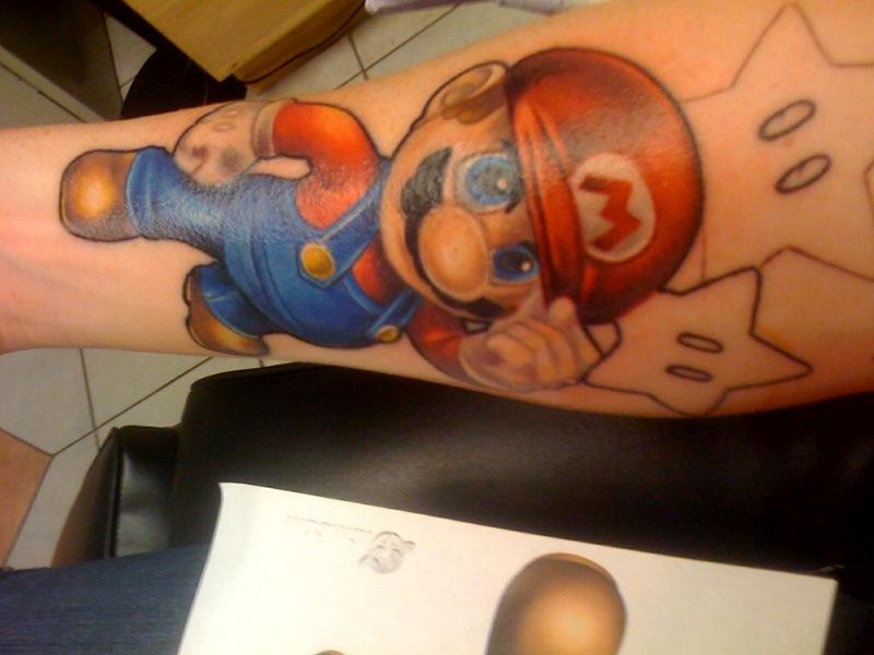 WIP Mario Sleeve 5 - sleeve tattoo