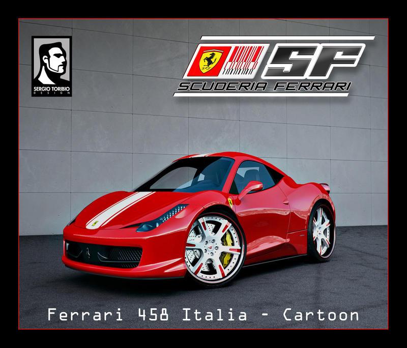 FERRARI 458 ITALIA Cartoon By Sergiotoribio On DeviantART