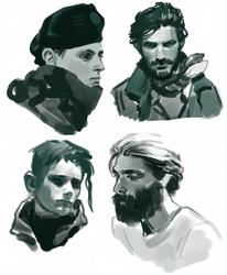 Value studies of some men by Vetyr