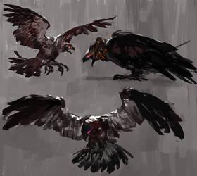 Dark birds by Vetyr