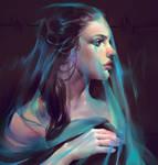 Draped blue
