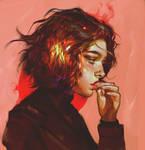 Smoke of crimson