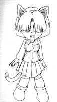 Mina-Chan before being a Cyborg