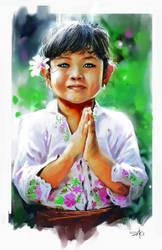 balinese child by rudyao
