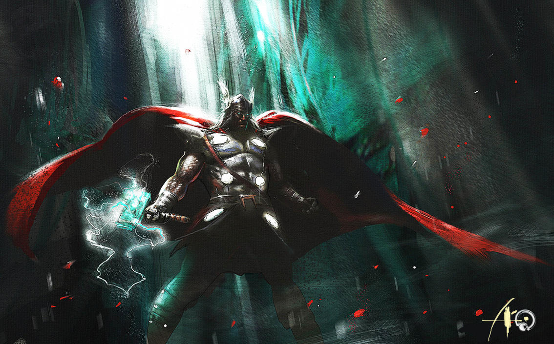another speed painting thor by rudyao
