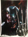 wolverine in acrylic