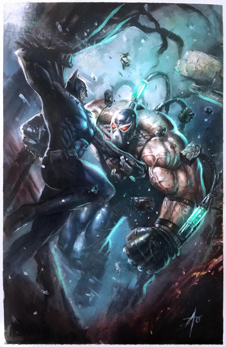 Batman VS Bane by rudyao