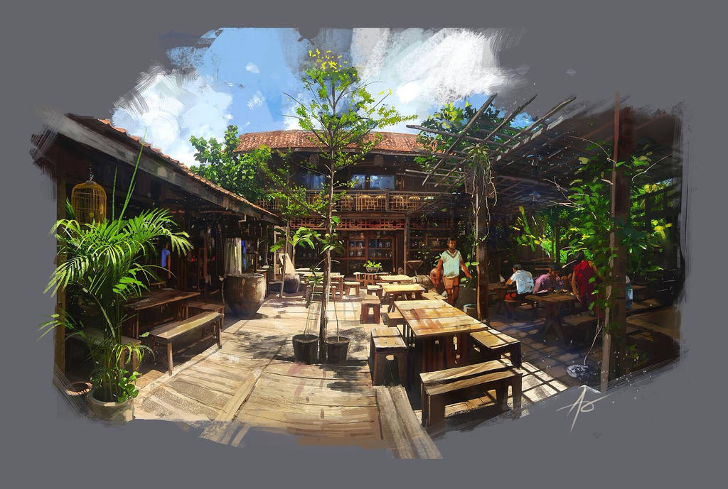 My friend restaurant by rudyao