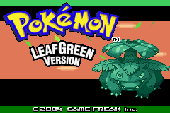 The title screen for Pokemon LeafGreen. by AllPokemonArts