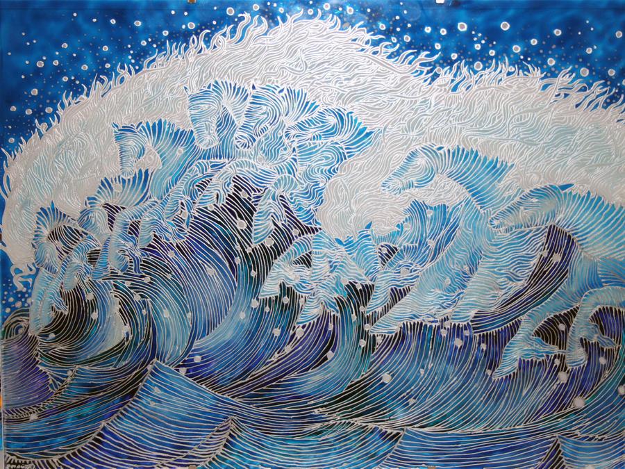 Neptune Horses - glass by sintel16