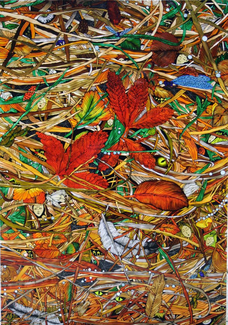autumn dreams - on glass by sintel16