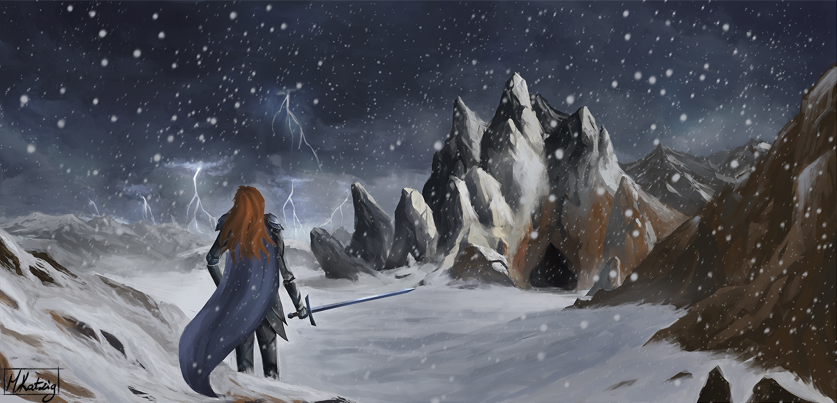Incoming snowstorm by Narholt