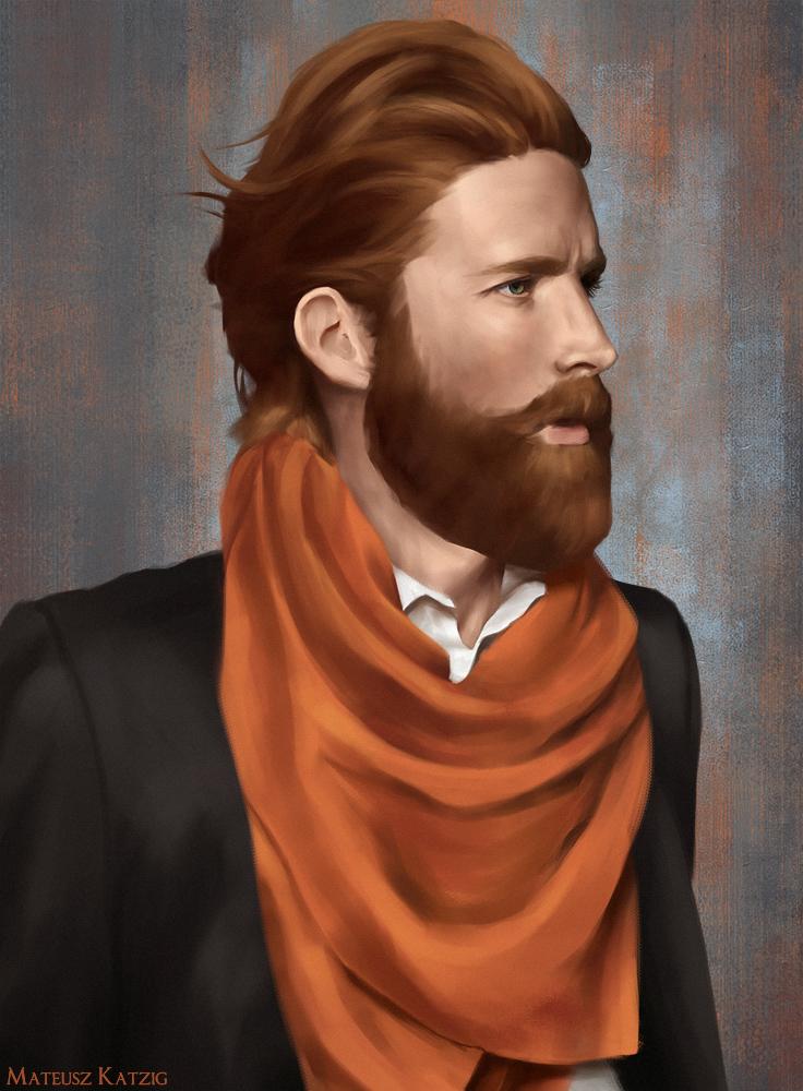 Male portrait study by Narholt