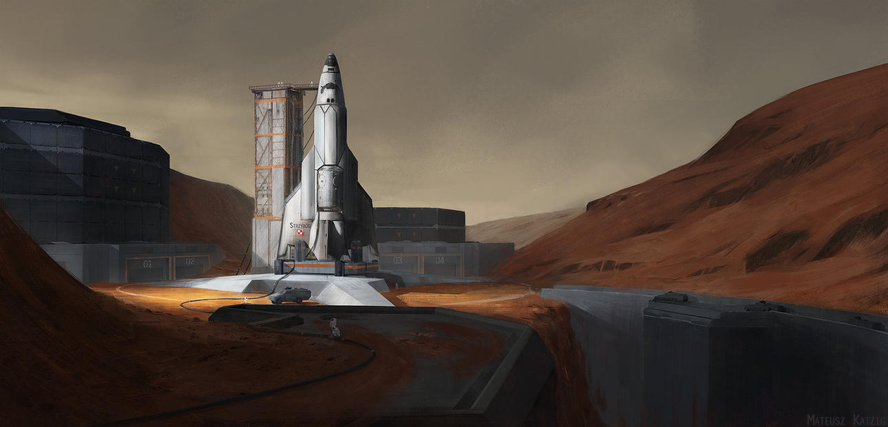 Mars launch base by Narholt on DeviantArt