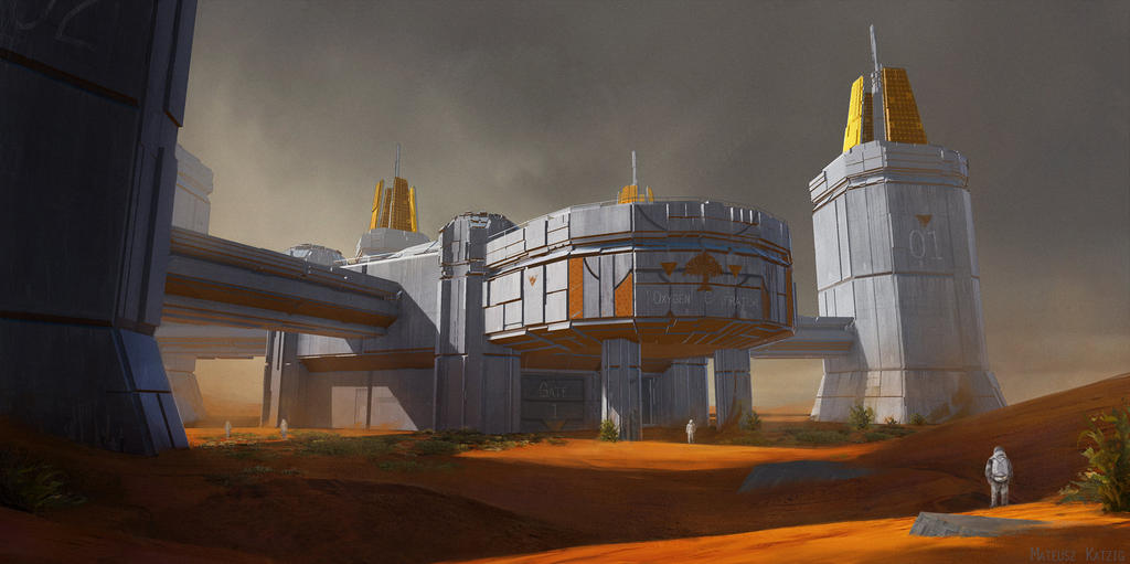 Mars terraforming station by narholt on deviantart for The concept of space in mamluk architecture