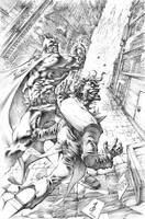 Batman vs Joker Commission by quahkm