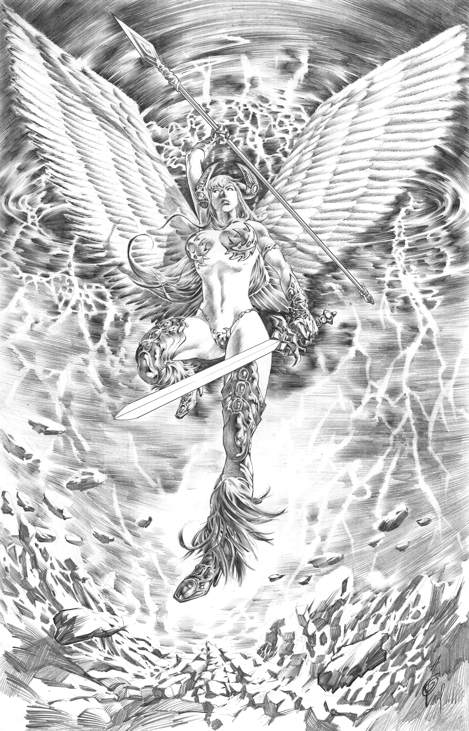 Angelus Commission by quahkm